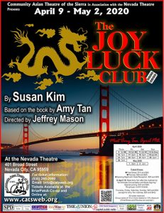 The Joy Luck Club – POSTPONED UNTIL NEXT YEAR