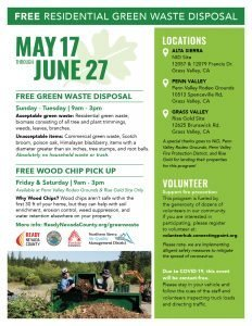 Free Green Waste Disposal & Wood Chip Pick Up Western Nevada County