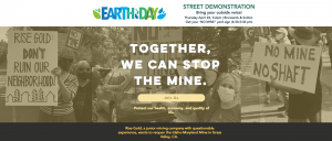Earth Day Street Demonstration to Stop the Idaho Maryland Mine from reopening